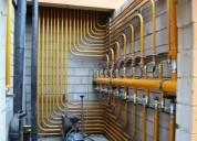 Ar condicionado,serviços de gás e tubulação