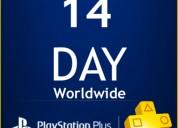 Conta psn plus 14 dias para ps4 por 5 reais.