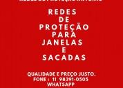 Redes de proteção na cidade dutra, (11) 98391-0505