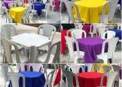 Aluguel de mesas e cadeiras