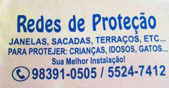 Redes de Proteção na Chacara Santo Antonio.