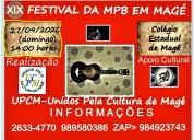 Xix festival da mpb em magé