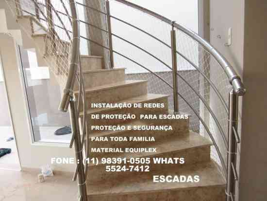 Redes de Proteção para janelas, varandas, escadas.