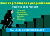 Adquira seu diploma de graduação - pg após receber