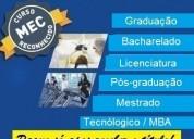 Diploma de graduação online  pague após receber