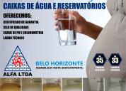 Limpeza e higienização de caixas de Água e reserva