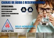 Limpeza de caixas d Água e higienização