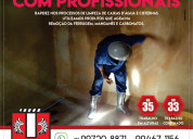 Limpeza das caixas d'água e cisternas profissional