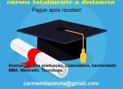 Diplomas universitário sem pagar antecipado