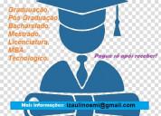 Diploma ensino superior - diploma em até 15 dias