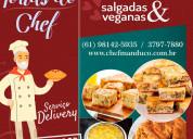 Tortas salgadas e veganas do chef em brasilia df