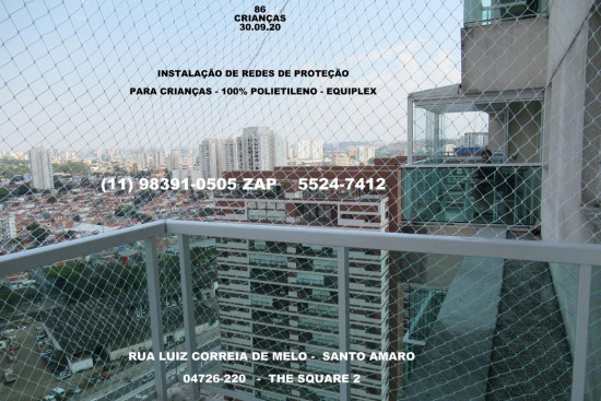 Redes de Proteção em Santo Amaro, (11) 5541-8283