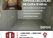 Impermeabilização de caixas de água e cisternas no